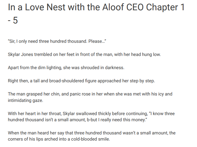 In a Love Nest with the Aloof CEO